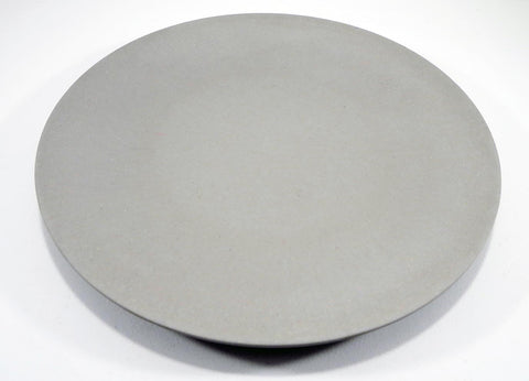 Bamboo round platter 36cm stone coloured