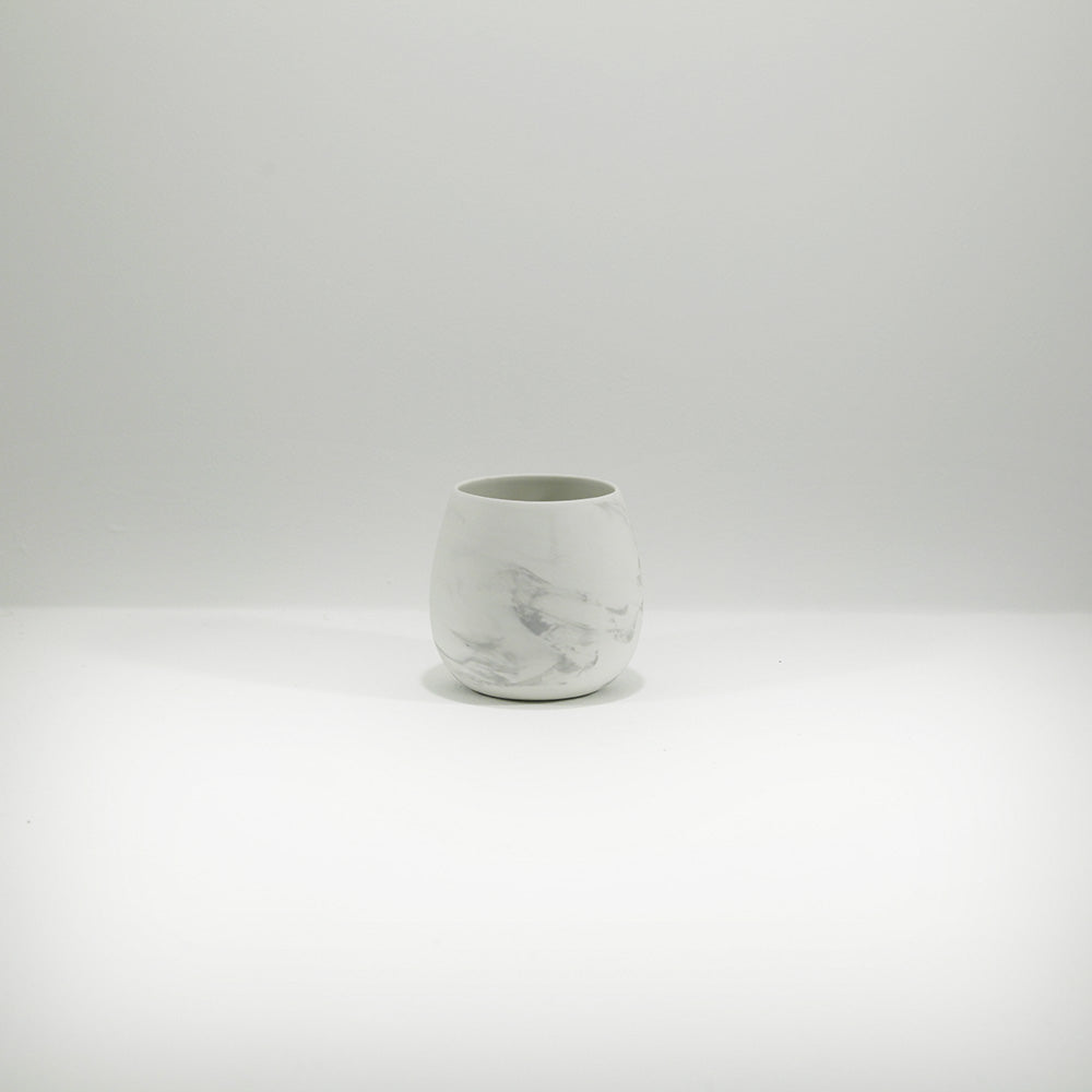 tea light holder marbled porcelain