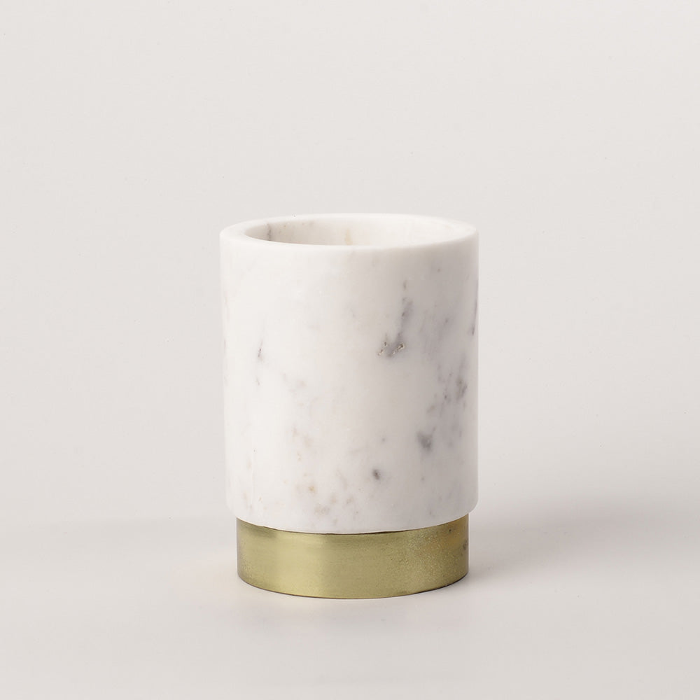 Marble Vase with Brass Ring base