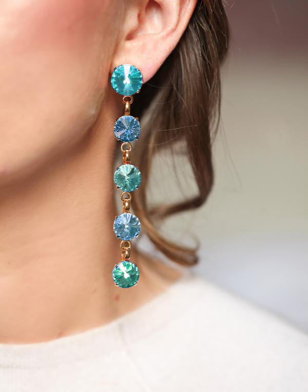 Christina Blue Swarovski Earrings