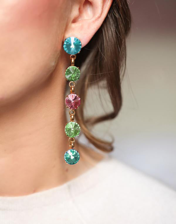 Christina Multicoloured Swarovski Earrings