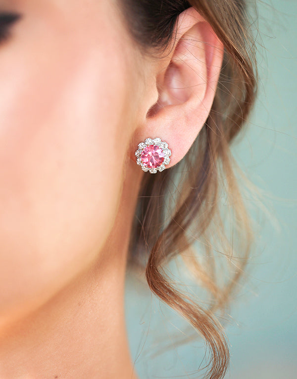 Light Pink Swarovski Studs