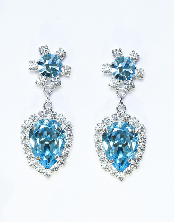 Clara Blue Swarovski Earrings