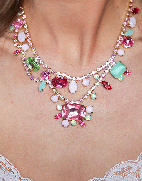 Gillian Multicoloured Crystal Swarovski Necklace