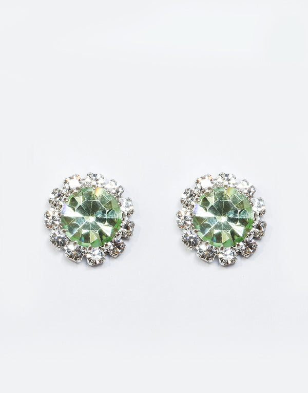 Apple Green Swarovski Studs
