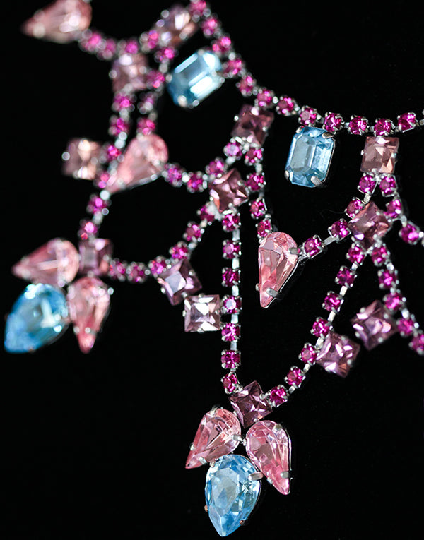 Sarah Multicoloured Crystal Swarovski Necklace