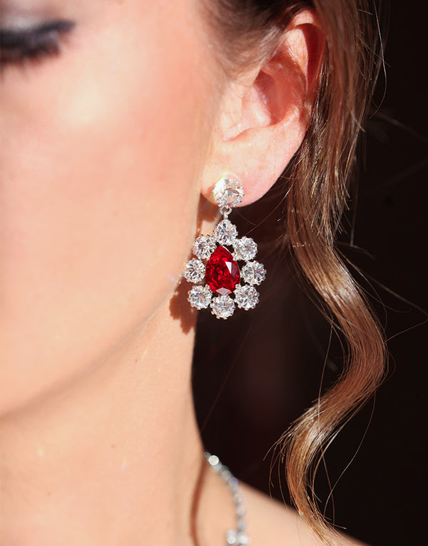 Red Angelica Swarovski Earrings