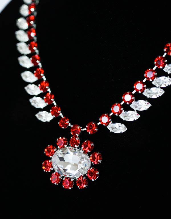 Sasha Red & Crystal Swarovski Necklace