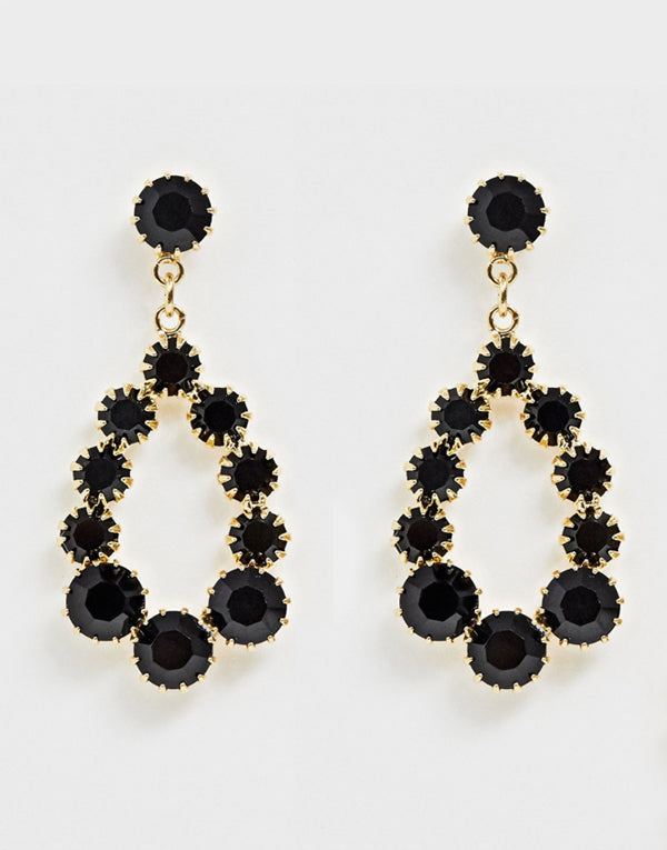 Tatiana Black Swarovski Earrings