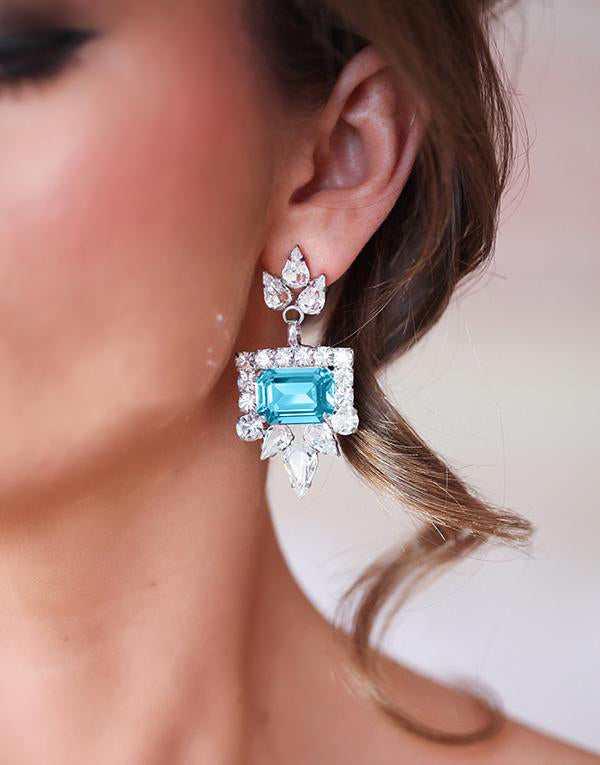 Valentina Blue Swarovski Earrings