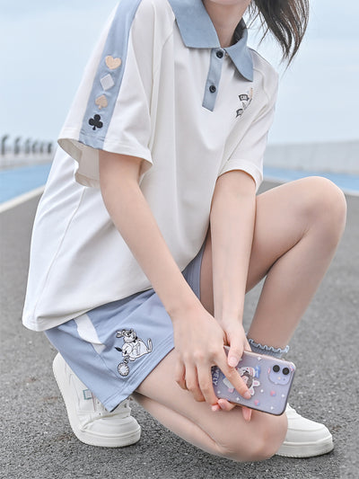 Alice in Wonderland Polo & Shorts-Sets-ntbhshop