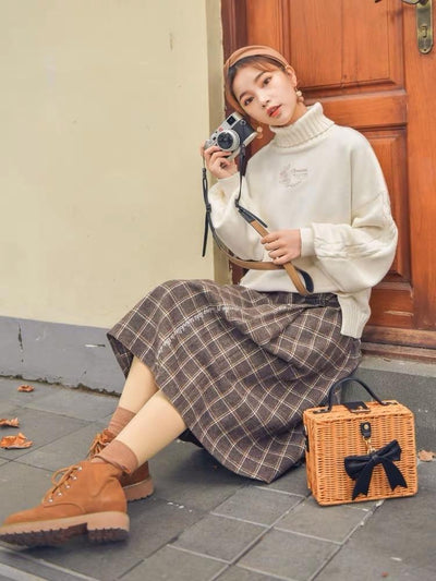 Autumn Girl Sweater & Midi Skirt-Sets-ntbhshop