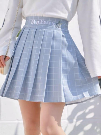 Blueberry Pleated Skirt-Skirt-ntbhshop