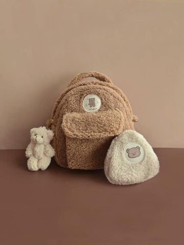 Brown Bear Mini Backpack & Purse-Bag-ntbhshop