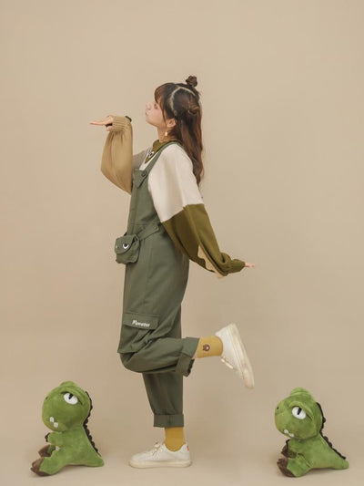 Green Monster Sweater & Overall Pants-Sets-ntbhshop