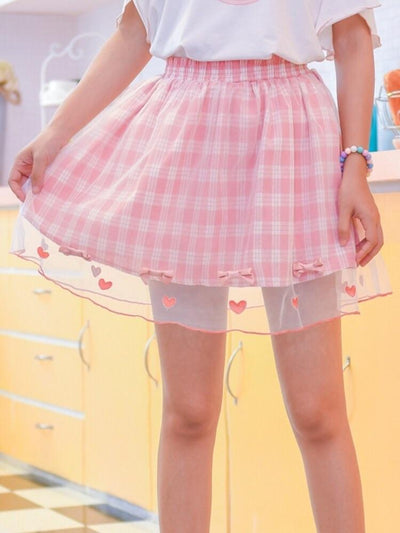 Hearts Tulle Skirt-Skirt-ntbhshop