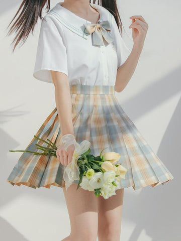 Honey Tea Jk Uniform Skirts-Sets-ntbhshop