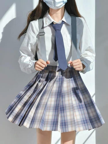 Morning Mist Jk Uniform Skirts-Sets-ntbhshop