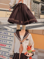 Nick Wilde Sailor Blouse & Midi Skirt-Sets-ntbhshop