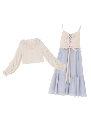Romantic Fairy Crop Top & Dress-Sets-ntbhshop