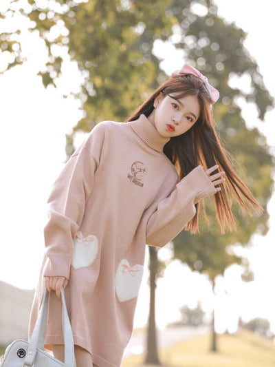 Sweet Intoxication Turtleneck Knit Dress-Sets-ntbhshop
