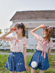 Sweet Strawberry Blouse & Dress-Sets-ntbhshop