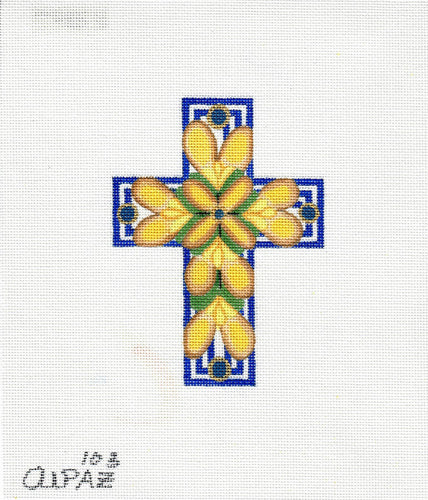 Small Blue & Yellow Cross