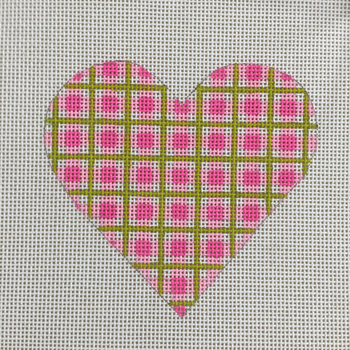 Pink Plaid Heart