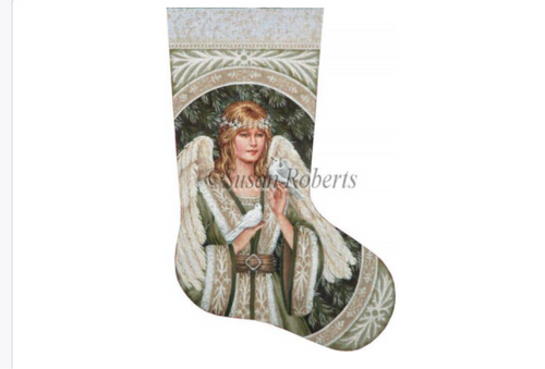 Evergreen Angel Stocking