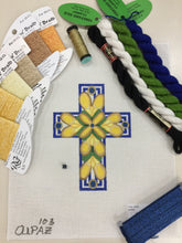 Load image into Gallery viewer, Small Blue & Yellow Cross