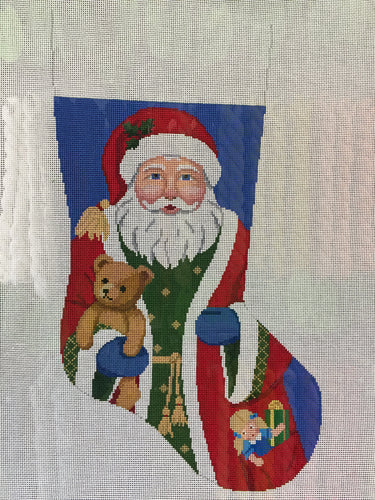 Santa w/Bear Stocking