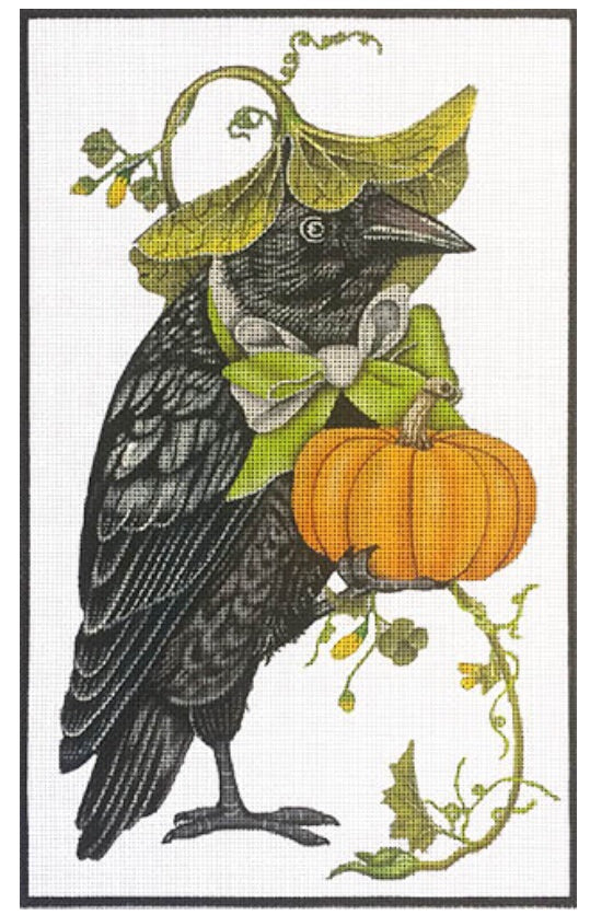 Crow with Pumpkin
