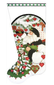 White Santa Christmas Tree Stocking