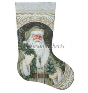 Evergreen Santa Stocking