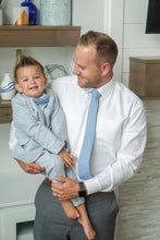 Load image into Gallery viewer, Jackson Blue Linen Boys Tie