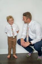 Load image into Gallery viewer, Strawberry Floral Boys Tie