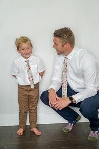Strawberry Floral Boys Tie