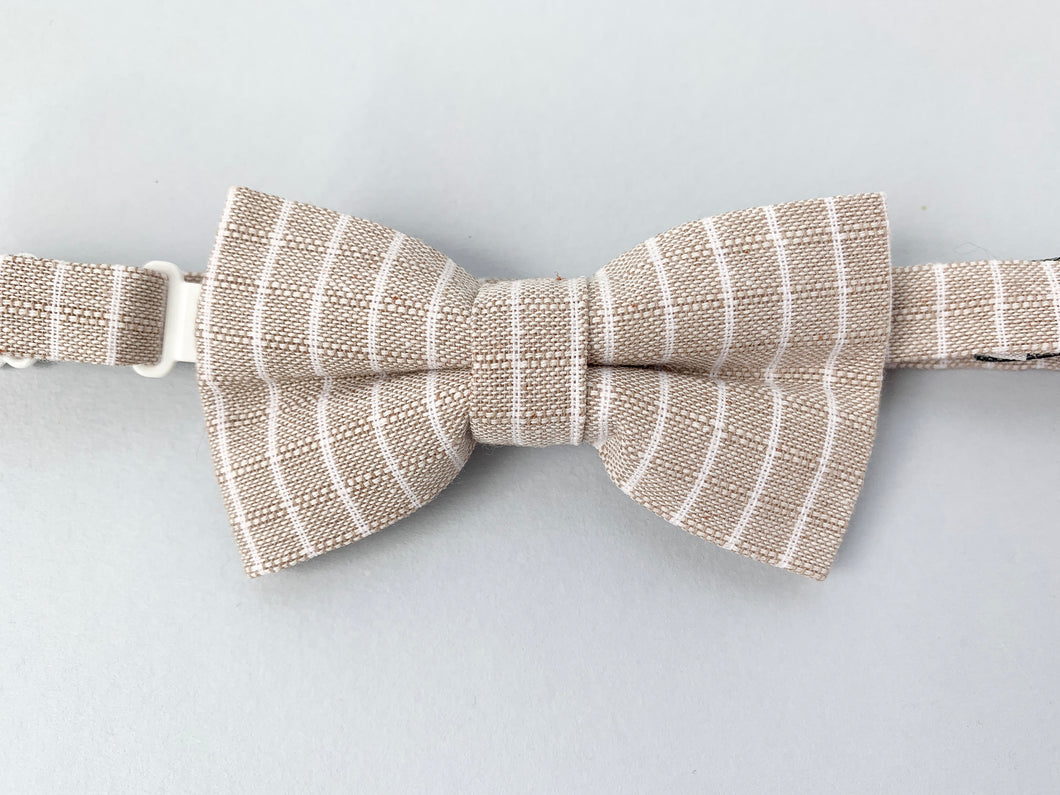 Sandy Stripe Bow Tie