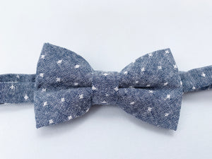 Chambray Dot Bow Tie