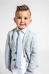Basket Blue Boys Tie