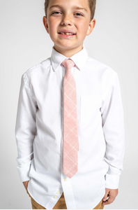 Bubblegum Grid Boys Tie