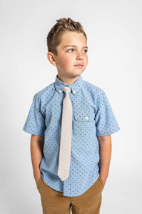 Sandy Stripe Boys Tie