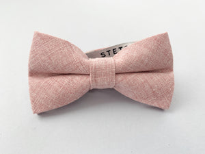 Rose Linen Bow Tie