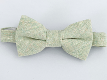 Load image into Gallery viewer, Sagebrush Linen Bow Tie