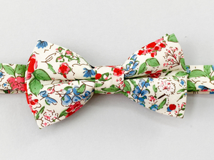 Strawberry Floral Bow Tie
