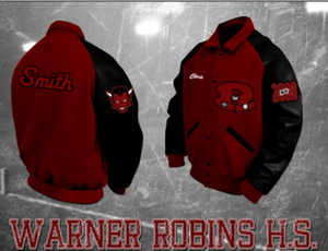 Warner Robins Athletic Letterman Jacket