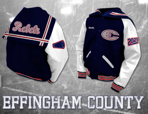 Effingham County Cheer Letterman Jacket