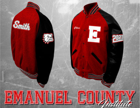 Emanuel County Institute Letterman Jacket
