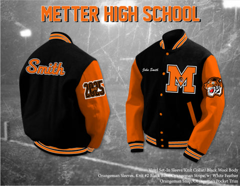 Metter High School Letterman Jacket