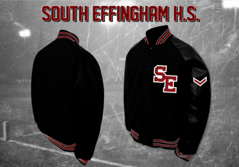South Effingham Letterman Jacket - Black